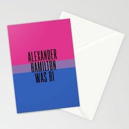 Alexander Hamilton Was Bi Stationery Cards
