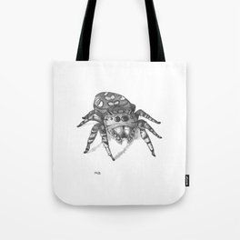 Inktober 2016: Jumping Spider Tote Bag
