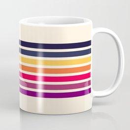 Imera - Classic 70s Vintage Style Retro Stripes Coffee Mug