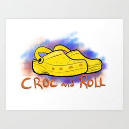 Croc and Roll Art Print