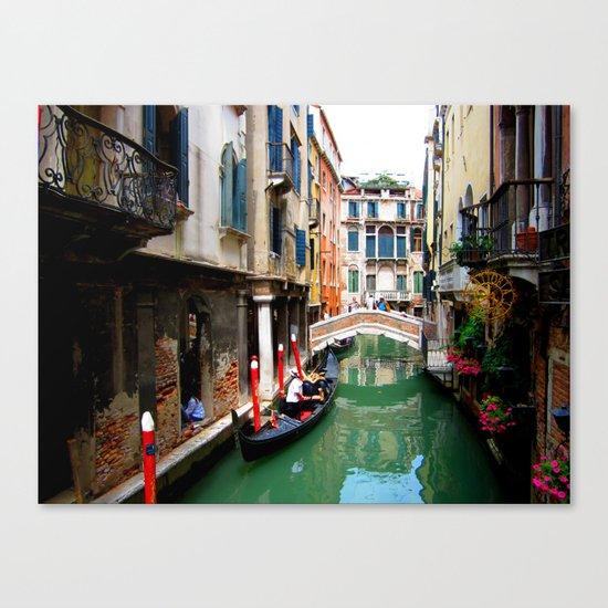 A Venice Canal Canvas Print