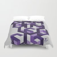 deadmau5 Duvet Covers featuring Gravity Levels - Geometry by Sitchko Igor
