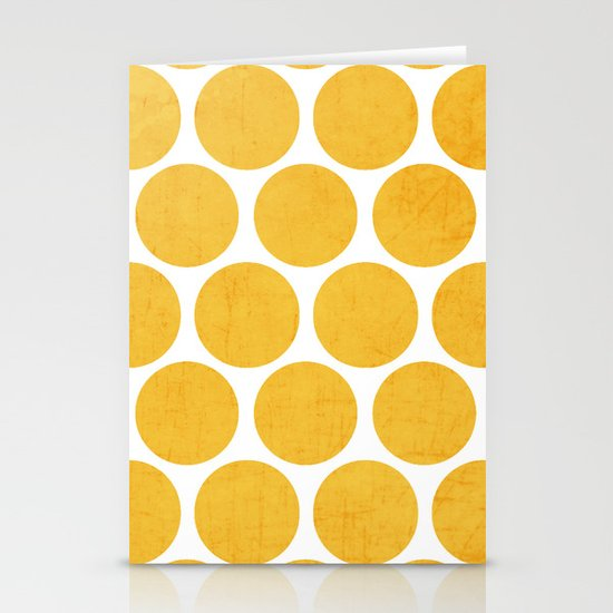 yellow polka dots Stationery Cards