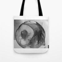 ying yang Tote Bags featuring Ying Yang by MarianneVidal