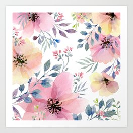 flower watercolor 1 Art Print