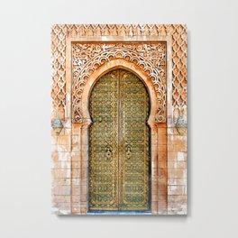 Door Hassan Tower Morocco - For Doors & Travel Lovers Metal Print