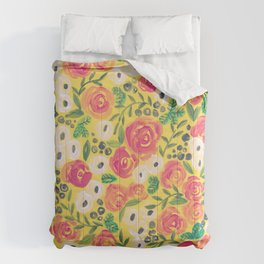 Minnie (Painted Flower Pattern) Comforters