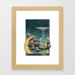 Bath Under The Starry Sky Framed Art Print