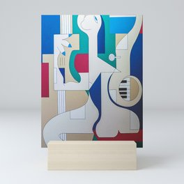 Saxo Joue Le Contrapiano Mini Art Print