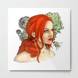Cherry Girl Metal Print