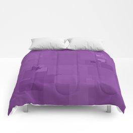 Dewberry Square Pixel Color Accent Comforters