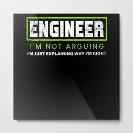 Engineer Education Metal Print
