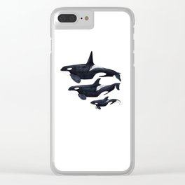 Orca (Orcinus orca) Clear iPhone Case
