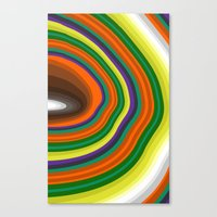 tree rings Canvas Prints featuring Tree Rings by K I R A   S E I L E R