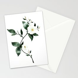 White Florals #1 Stationery Cards