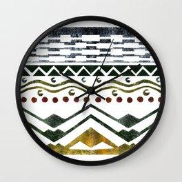 Ethnic Stencil Wall Clock
