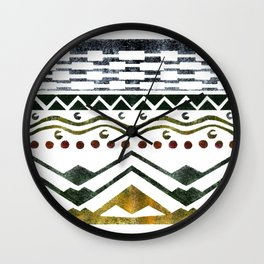 Ethnic Stencil Wall Clock