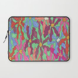 Colorful Retro Floral Print Laptop Sleeve