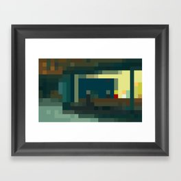 Nighthawks, pixelated Framed Art Print