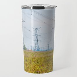 Landscape with power lines Travel Mug