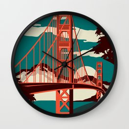 The City By The Bay - San Fran Wall Clock