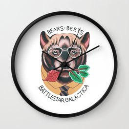 Bears beets Wall Clock