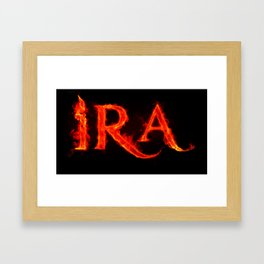 Ira ( anger ) Framed Art Print