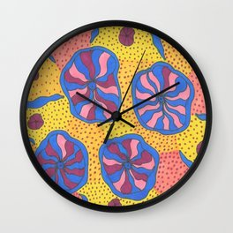 Colorful Retro Abstract Funk Wall Clock