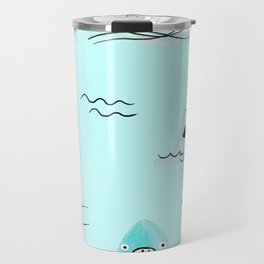 Sharkhead - Shark Pattern Travel Mug
