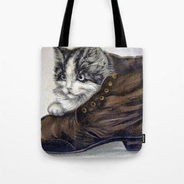 Kitten in a Shoe Tote Bag