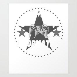information-clerk Gamer Gift Art Print
