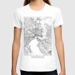 Jacksonville Map White T-shirt