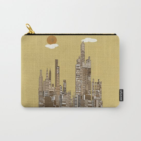 Detroit skyline vintage  Carry-All Pouch