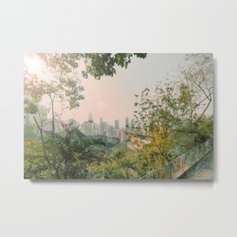 Hongkong view at sunset Metal Print