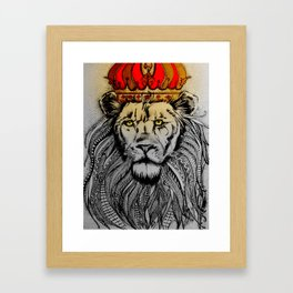 King Lion (Jah, Rasta) Framed Art Print
