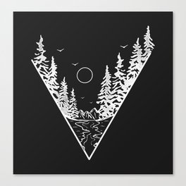 Triangle Outdoor Canvas Print