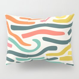 Ribbons colorful pattern Pillow Sham