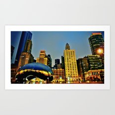 Chicago Bean Art Print