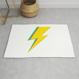 Lightning bolt (yellow Version) Rug