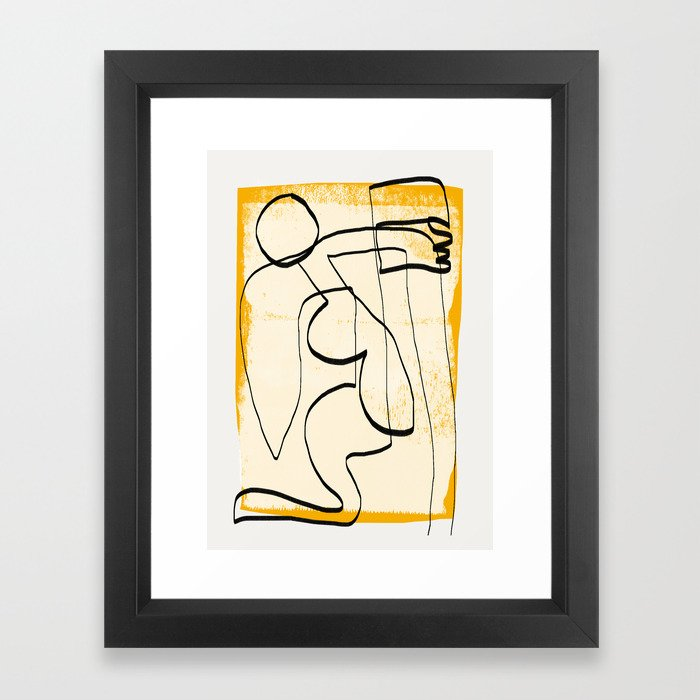 Abstract line art 3 Framed Art Print