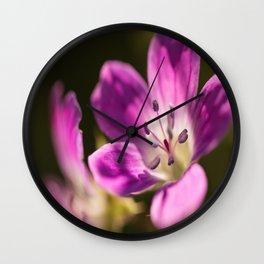 Purple flowers glow in forest #decor #buyart #society6 Wall Clock