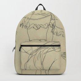 "Egon Schiele ""Girl Bending Forward, Back View"" Backpack"