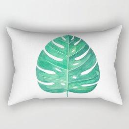 Monstera Leaf #2 | Watercolor Painting Rectangular Pillow