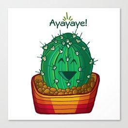Ayayaye Cactus Ball Canvas Print