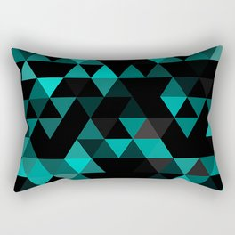 Chic Colors Funky Retro Polygon Triangles Mosaic Pattern Rectangular Pillow