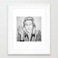 nick cave Framed Art Prints featuring Nick Cave by Kattesmatte