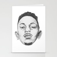 kendrick lamar Stationery Cards featuring Kendrick Lamar by Omar Guzman