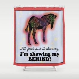 Linocut Zebra Quote Shower Curtain