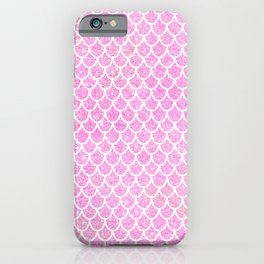 Pink Glitter Mermaid's Tail iPhone Case
