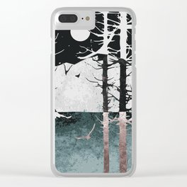 Landscape at night Clear iPhone Case